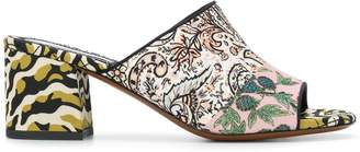 Etro multi pattern heeled sandals