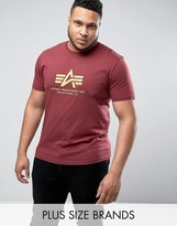 Alpha Industries PLUS Logo T-Shirt Regular Fit in Burgundy