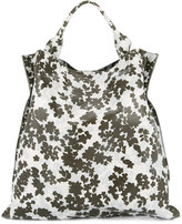 Jil Sander floral print shopping bag