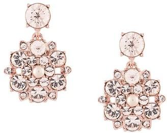 Marchesa Floral-Drop Crystal Earrings