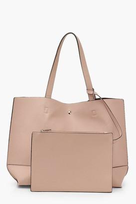 boohoo Textured PU Tote & Tablet Bag
