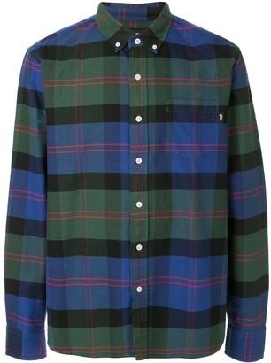 Stussy Oxford plaid print shirt