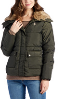 U.S. Polo Assn. Olive Faux Fur Collar Puffer Jacket