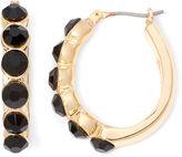 JCPenney MONET JEWELRY Monet Gold-Tone Black Hoop Earrings