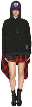 DSQUARED2 Layered Brushed Sweatshirt Dress