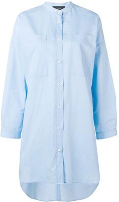 Joseph oversized grandad collar shirt