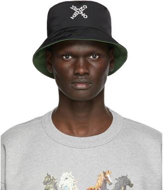 Kenzo Reversible Black Little X Bucket Hat