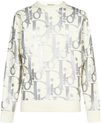 Dior Homme Oversized Reflective Oblique Sweater