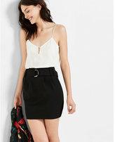 Express paper bag waist mini skirt