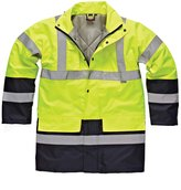 "Dickies Mens Waterproof High-Visibility Two-Tone Parka Jacket / Workwear (XL (Chest 48-50""))"