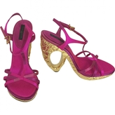 Louis Vuitton Pink Cloth Sandals