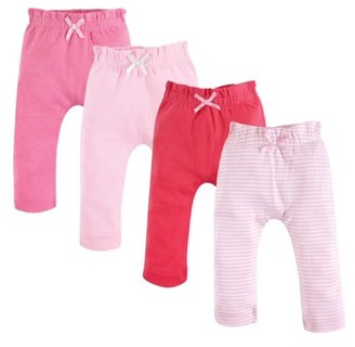Touched by Nature Baby Girl Organic Harem Pants, 4-pack