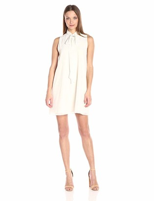 BCBGeneration Women's A-line Dress with Neck Tie