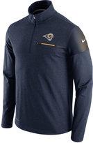 Nike Men's Los Angeles Rams Elite Coaches Quarter-Zip Pullover