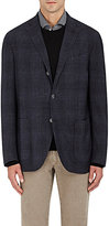 Boglioli MEN'S K WOOL-LINEN THREE-BUTTON SPORTCOAT-NAVY SIZE 46 R