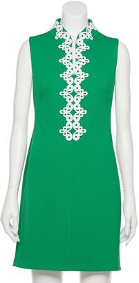 Elle Women's Mandarin Collar Shift Dress