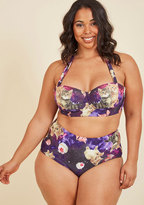 High Dive by ModCloth Know an Eccentric or Two Swimsuit Top in 4X