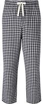 John Lewis Bodmin Check Brushed Cotton Lounge Pants, Blue/grey
