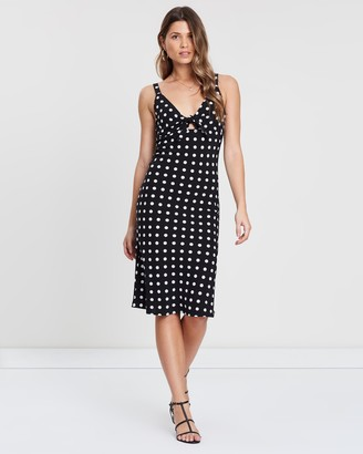 Atmos & Here Atmos&Here Tie-Front Midi Dress