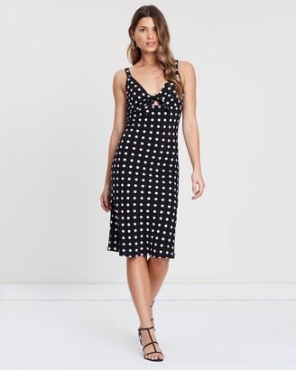 Atmos & Here Tie-Front Midi Dress