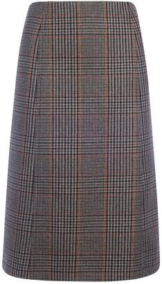 Prada Houndstooth Pencil Skirt