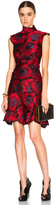 Erdem Holly Thread Work Embroidery Dress in Red