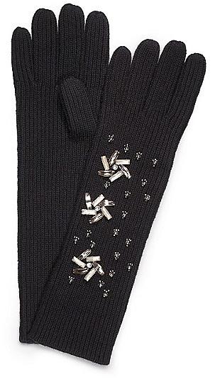 Tory Burch Embellished Glove