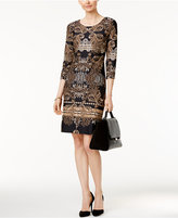 Charter Club Petite Damask-Print Shift Dress, Only at Macy's