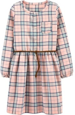 Carter's Little & Big Girls Plaid Shirt Dress