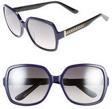 Jimmy Choo Women's 'Patty' 59Mm Special Fit Sunglasses - Blue/ Black