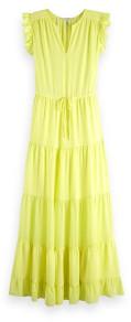 Scotch & Soda Tiered Maxi Dress - xlarge - Yellow