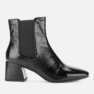 Vagabond Women's Alice Patent Leather Heeled Chelsea Boots - Black