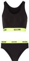 Moschino Two-Tone Neon Racer-Back Bikini