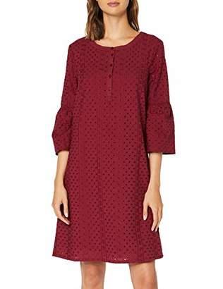 Tom Tailor Casual Women's Schiffli Kleid Dress, (Tile Red 468), (Size: 44)