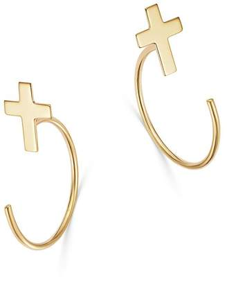 Moon & Meadow Cross Front-to-Back Earrings in 14K Yellow Gold - 100% Exclusive