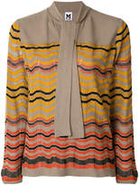 M Missoni wave print knitted top