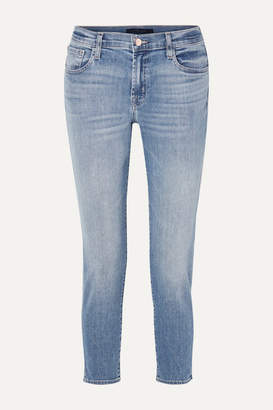 J Brand Sadey Cropped Mid-rise Slim-leg Jeans - Light denim