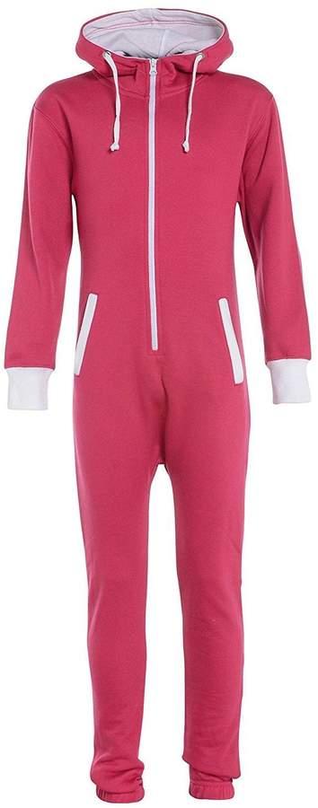 My Mix Trendz Kids Unisex Boys Girls Children Plain Onesie Hooded All In One Jumpsuit 7-13 Yrers
