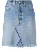 RE/DONE short denim skirt - women - Cotton/Leather - 24