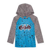 Batman Long Sleeve Hooded Neck T-Shirt-Preschool Boys