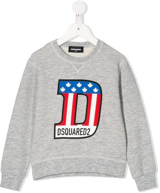 DSQUARED2 monogram print relaxed-fit sweatshirt