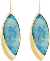 Lana 14k Radiant Large Malachite & Moonstone Marquis Drop Earrings