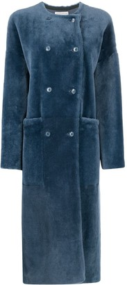 Inès & Marèchal Fur Double-Breasted Coat