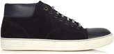 Lanvin Suede and leather mid-top trainers