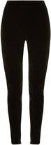 Balmain High-rise skinny-leg velvet trousers