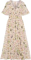 RED Valentino Printed Silk-georgette Midi Dress