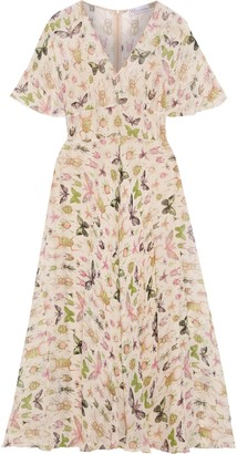 RED Valentino Ruffled Printed Silk-crepon Maxi Dress
