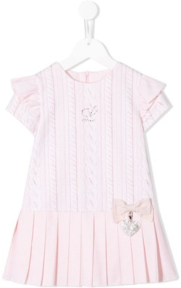 Lapin House pleated knit print dress