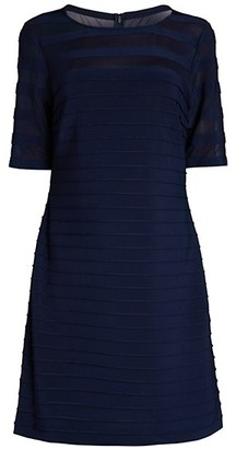 Adrianna Papell Pintucked A-Line Dress