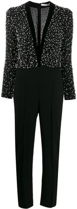 Givenchy Embellished V-Neck Jumpsuit